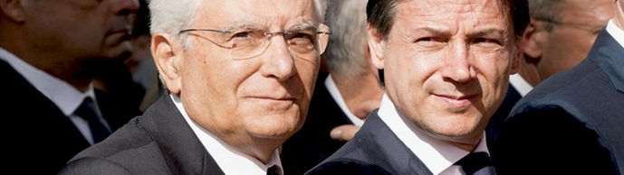 Sergio Mattarella und Giuseppe Conte  | Bildquelle: CHIGI PALACE PRESS OFFICE/FILIPP