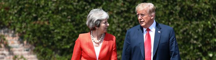 Theresa May und Donald Trump | Bildquelle: JACK TAYLOR/POOL/EPA-EFE/REX/Shu