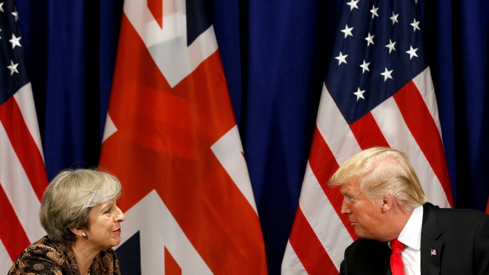 Theresa May und Donald Trump | Bildquelle: REUTERS
