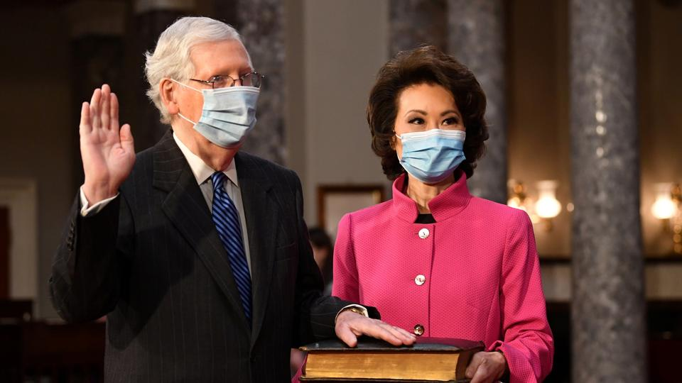 Mitch McConnell und Elaine Chao | REUTERS