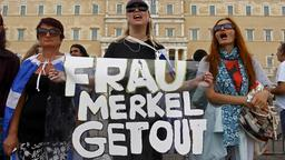 Merkel in Athen: Demonstrationen
