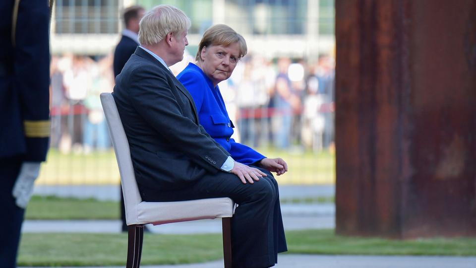 Boris Johnson und Angela Merkel | AFP