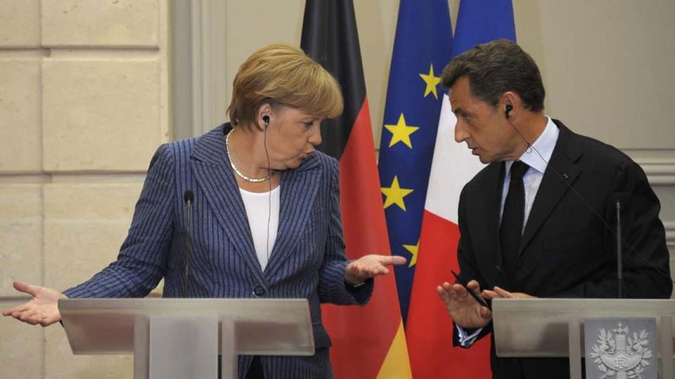 Angela Merkel und Nicolas Sarkozy in Paris