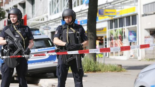 Messerattacke in Supermarkt in Hamburg-Barmbek