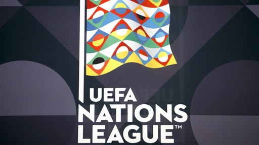 Das Logo der UEFA Nations League. | Bildquelle: dpa