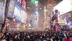 Silvester am Times Square in New York