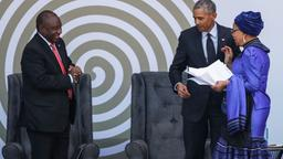 Obama und 'Graca Machel