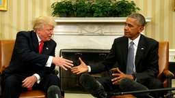 Obama und Trump im Oval Office (Archivbild)