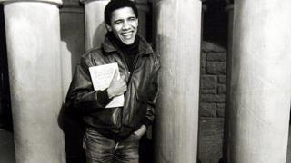 Barack Obama als stolzer Student der Harvard Law School.