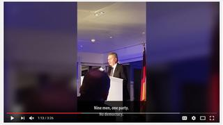 Screenshot eines Oettinger-Videos bei YouTube