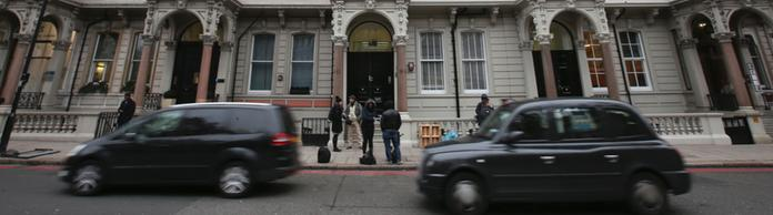 Die Londoner Fassade Christopher Steeles Firma Orbis Business Ltd | Bildquelle: AFP