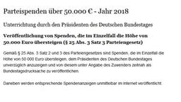 Screenshot Parteispenden