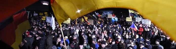 Pegida-Demonstration in Dresden | Bildquelle: AP