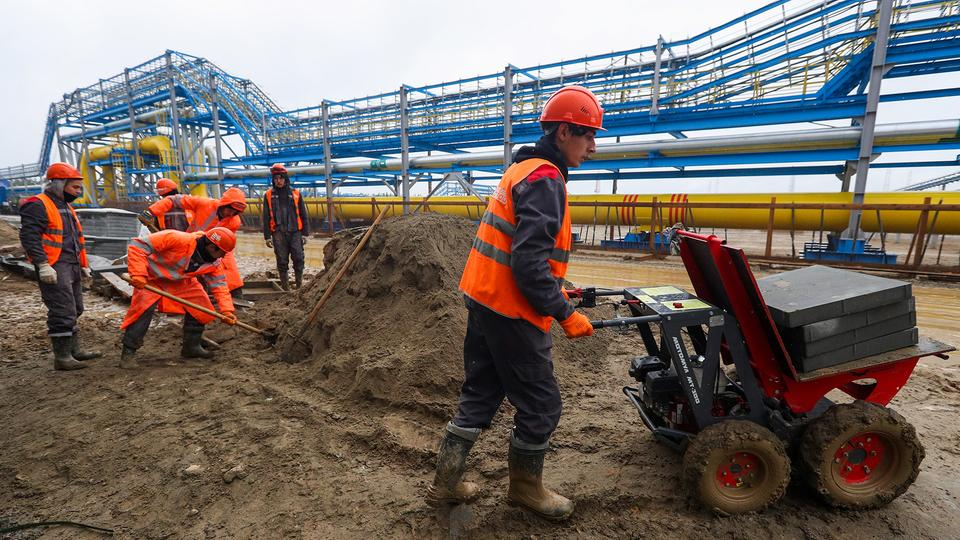 "Bau der Pipeline ""Power of Siberia"" 