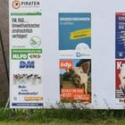 Wahlplakate in Hannover. | dpa