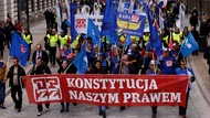 Demonstration zum 1. Mai