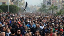 Hunderte Demonstranten in der Stadt Port Said | Bildquelle: AFP