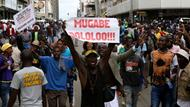 Demonstranten in Harare, Simbabwe