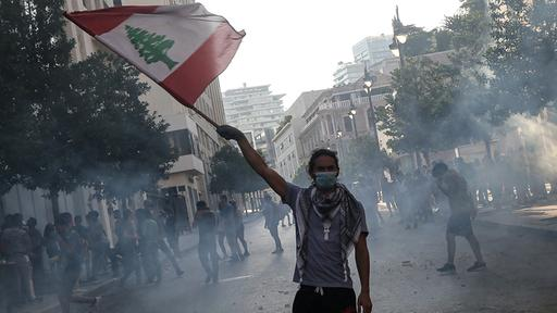 Proteste in Beirut   dpa