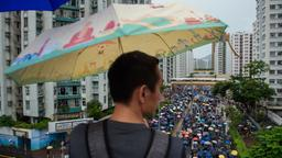 Demonstranten in Hongkong | Bildquelle: dpa