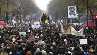 Demo zum Generalstreik in Paris