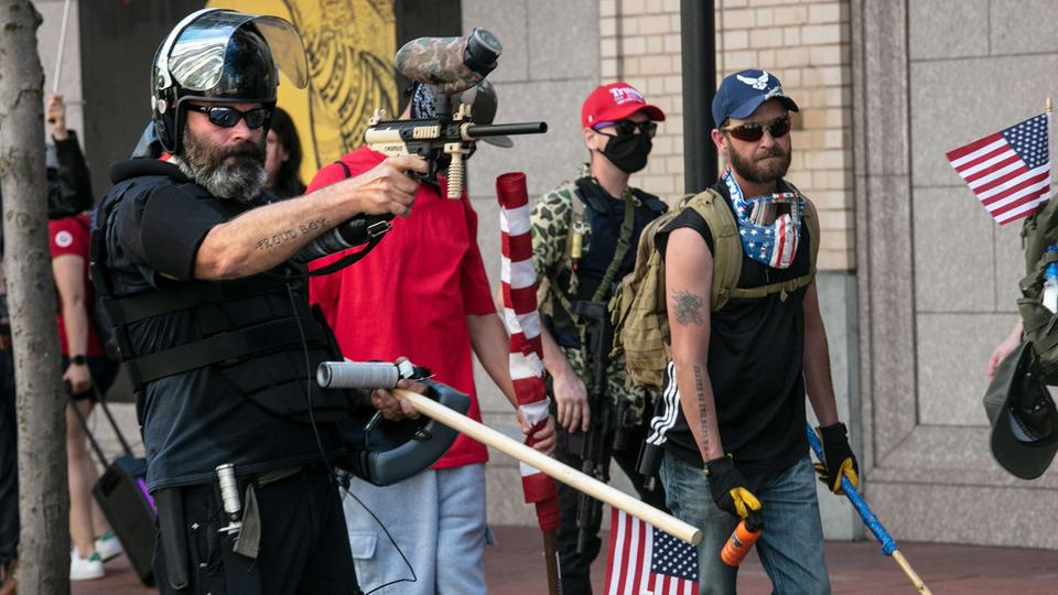 "Nationalistische ""Proud Boys"" in Portland 