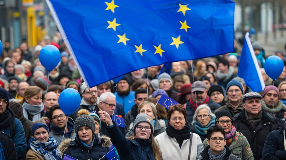 """Pulse of Europe"" Kundgebung in Frankfurt"
