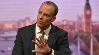 Brexit-Minister Dominic Raab in einem BBC-Interview. | Bildquelle: REUTERS
