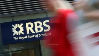 Eine Filiale der Royal Bank of Scotland in London | Bildquelle: AFP