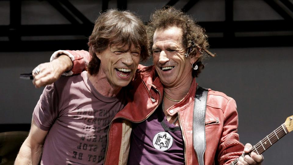 Keith Richards und Mick Jagger im Jahr 2005 | Bildquelle: picture alliance/dpa