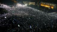 Massenprotest in Bukarest