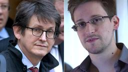 Alan Rusbridger und Edward Snowden