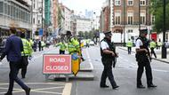 Polizisten und Ermittler am Russel Square in London