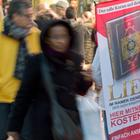 Teilnehmer der Koran-Verteilaktion in Frankfurt/Main (Archivbild) | picture alliance / dpa