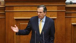 Oppositionschef Samaras in Parlament in Athen