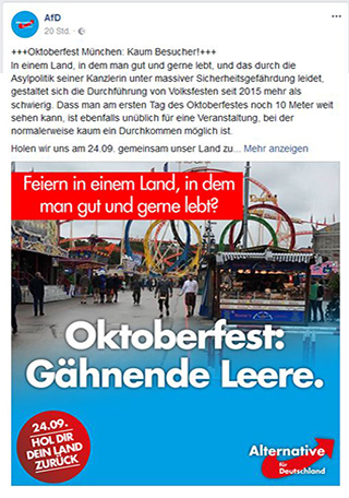 Screenshot AfD zu Oktoberfest | Bildquelle: Screenshot Twitter AfD-Account