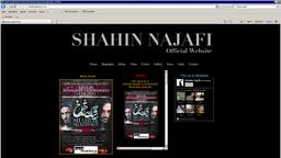 Screenshot of the website by Shahin Najafi