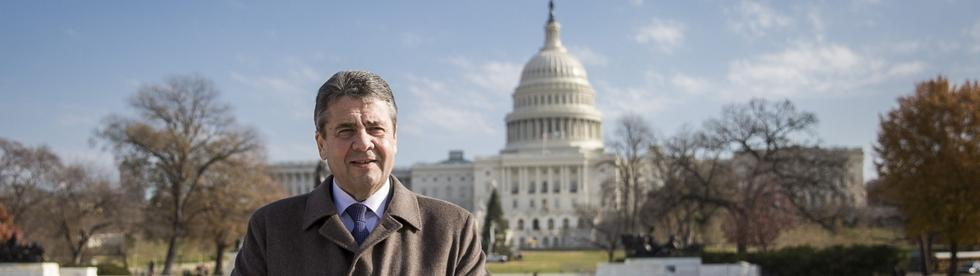 Sigmar Gabriel in Washington | Bildquelle: dpa