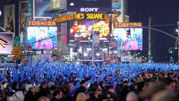 Menschenmenge am Times Square in New York