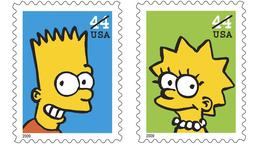 Bart und Lisa Simpson Briefmarke