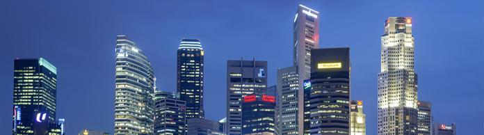 Skyline von Singapur  | Bildquelle: picture alliance