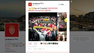 Screenshot eines Tweets vom Verein AS Monaco.