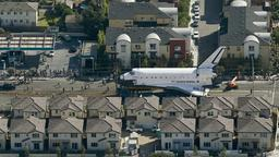 Der Space Shuttle auf dem Manchester Boulevard in Los Angeles