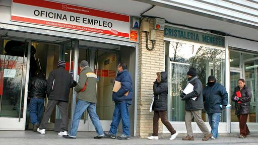 Arbeitslose in Madrid | picture alliance / dpa