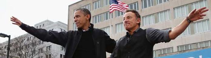 Barack Obama und Bruce Springsteen in Madison, Wisconsin