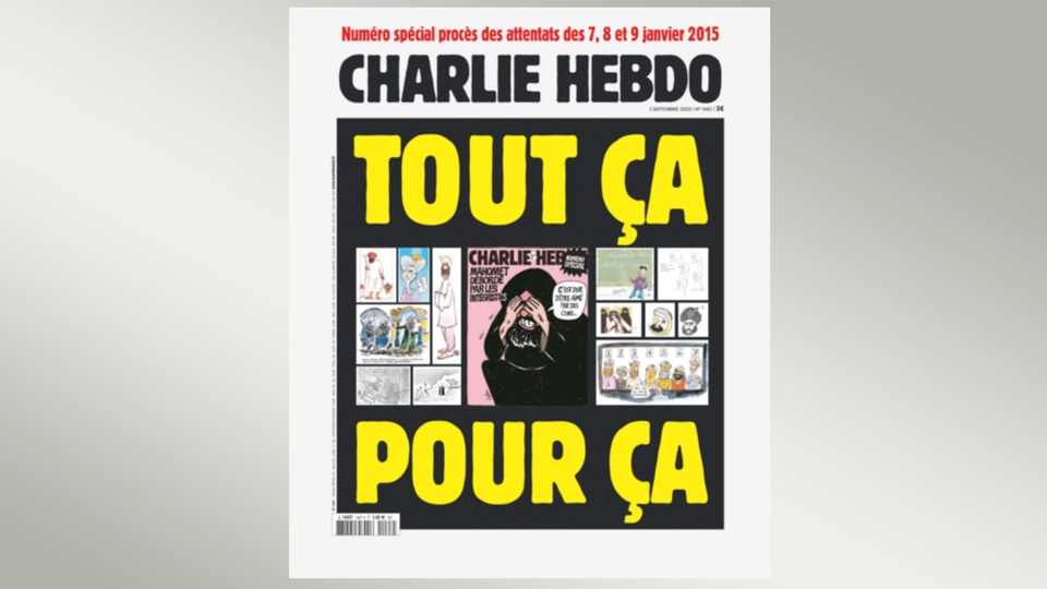 Screenshot, Charlie-Hebdo-Ausgabe September 2020 |