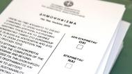 Stimmzettel des Referendums in Griechenland