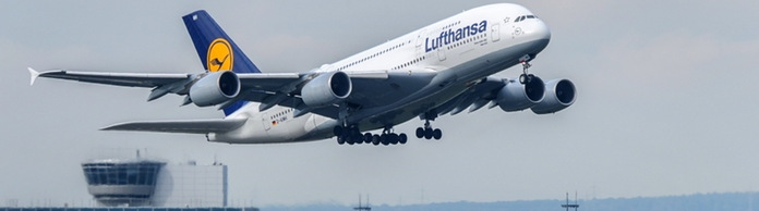 Lufthansa-Maschine beim Start