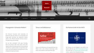 "Die Website ""Swiss Propaganda Research"""