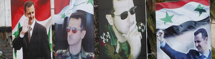 Assad-Plakate in Damaskus | Bildquelle: REUTERS
